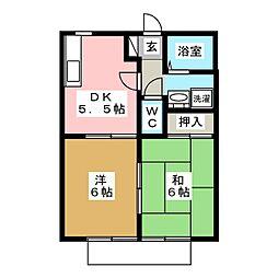 SUNGARDEN21B[1階]の間取り