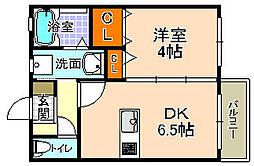 サカセ川ハイツC[205号室]の間取り