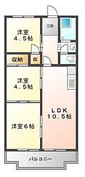 ロイヤルハイツ白子駅[5階]の間取り