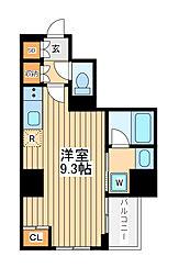 アゼスト川崎大師2 6階ワンルームの間取り