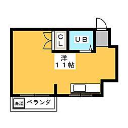 レジデンス津田[3階]の間取り