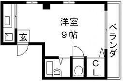 コンラッド布施[4A号室号室]の間取り