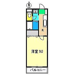 グランヴィーダ瀧[4階]の間取り