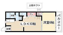愛知県名古屋市守山区小幡中3丁目の賃貸アパートの間取り