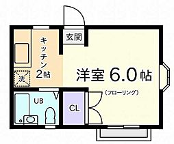 東京都国立市東4丁目の賃貸アパートの間取り