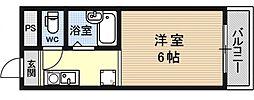 シャローム醍醐[201号室号室]の間取り