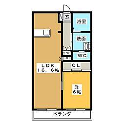 レジデンス可児[2階]の間取り