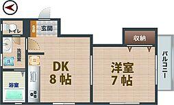 東京都中野区若宮1丁目の賃貸アパートの間取り
