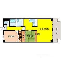 レックスタウン新高1号館[6階]の間取り
