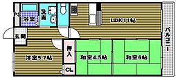 エレガントライフマンション[2階]の間取り