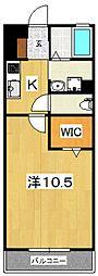 フローラルガーデン[102号室号室]の間取り