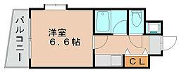 ドミエスポワール箱崎6[6階]の間取り