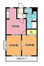ナガシマハイム[1階]の間取り