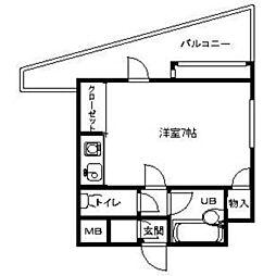 ピュアドーム博多エクセーヌ[903号室]の間取り