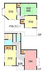 [一戸建] 神奈川県横浜市戸塚区戸塚町 の賃貸【/】の間取り