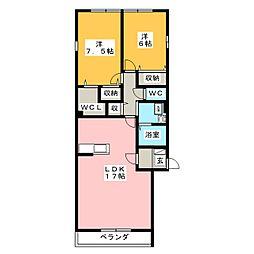 リオーネ21[3階]の間取り