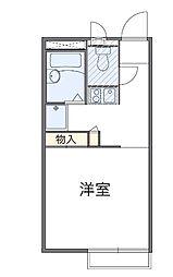 千葉県松戸市下矢切の賃貸アパートの間取り