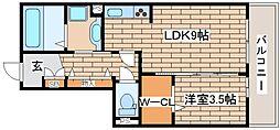 兵庫県神戸市中央区熊内町4丁目の賃貸アパートの間取り