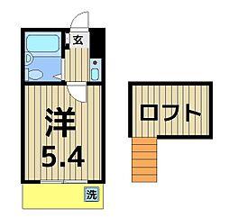クロノス竹ノ塚[105号室]の間取り