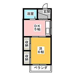 メゾンホワイト[2階]の間取り