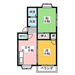 ベルウッドII[2階]の間取り
