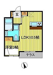SUMIKA[2-D号室]の間取り