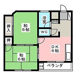 コーポナニワ[3階]の間取り