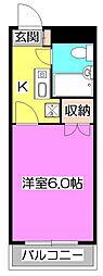 東京都東久留米市学園町2丁目の賃貸マンションの間取り