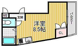 ロイヤルハイツ夙川[3階]の間取り