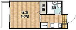 シャルム新城[205号室]の間取り