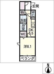ベルクレール国府宮[1階]の間取り