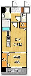メディプラカーサ[8階]の間取り