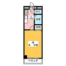 グランデール野田[4階]の間取り