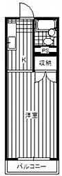 神奈川県相模原市中央区富士見4丁目の賃貸マンションの間取り