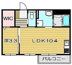 エルメゾンJR総持寺[2階]の間取り