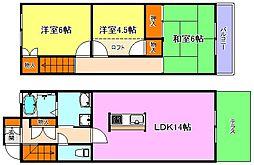 タウンハウス伊川谷[2階]の間取り