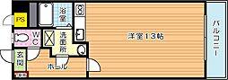 オリエンタル三萩野公園[302号室]の間取り