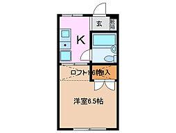 三重県四日市市別名5丁目の賃貸アパートの間取り
