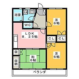 ロイヤルマンション[3階]の間取り