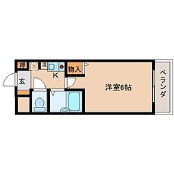 奈良県奈良市花芝町の賃貸マンションの間取り
