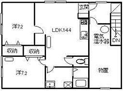 プレジデントII 3階2SLDKの間取り