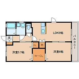 静岡県静岡市駿河区広野6丁目の賃貸アパートの間取り
