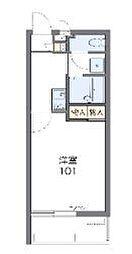 沖縄都市モノレール 浦添前田駅 3.8kmの賃貸マンション 1階1Kの間取り