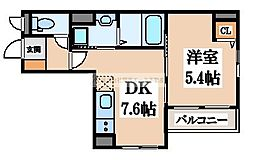 (仮称)D-room大町東[5階]の間取り