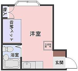 東京都葛飾区高砂3丁目の賃貸マンションの間取り