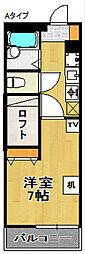 レオパレスファーウッドII[3階]の間取り