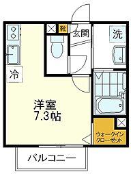 CHARM(シャルム) 2階ワンルームの間取り