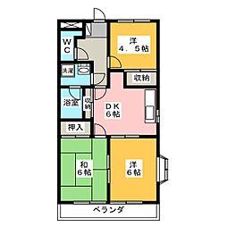 メゾンカトレア[3階]の間取り