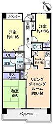 コスモ船橋滝不動[5階]の間取り
