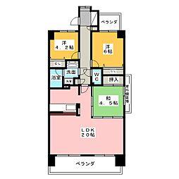 国府宮パークスクエアI番館 417号室[4階]の間取り